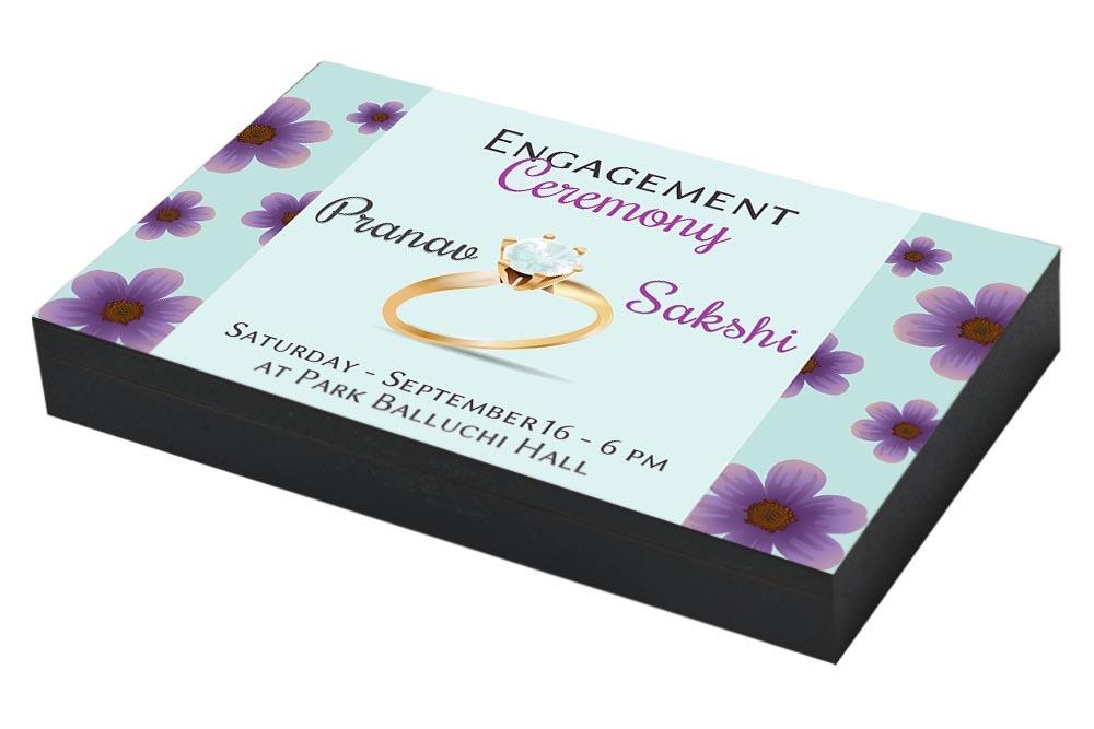 Whimsical Engagement Ceremony Invitation