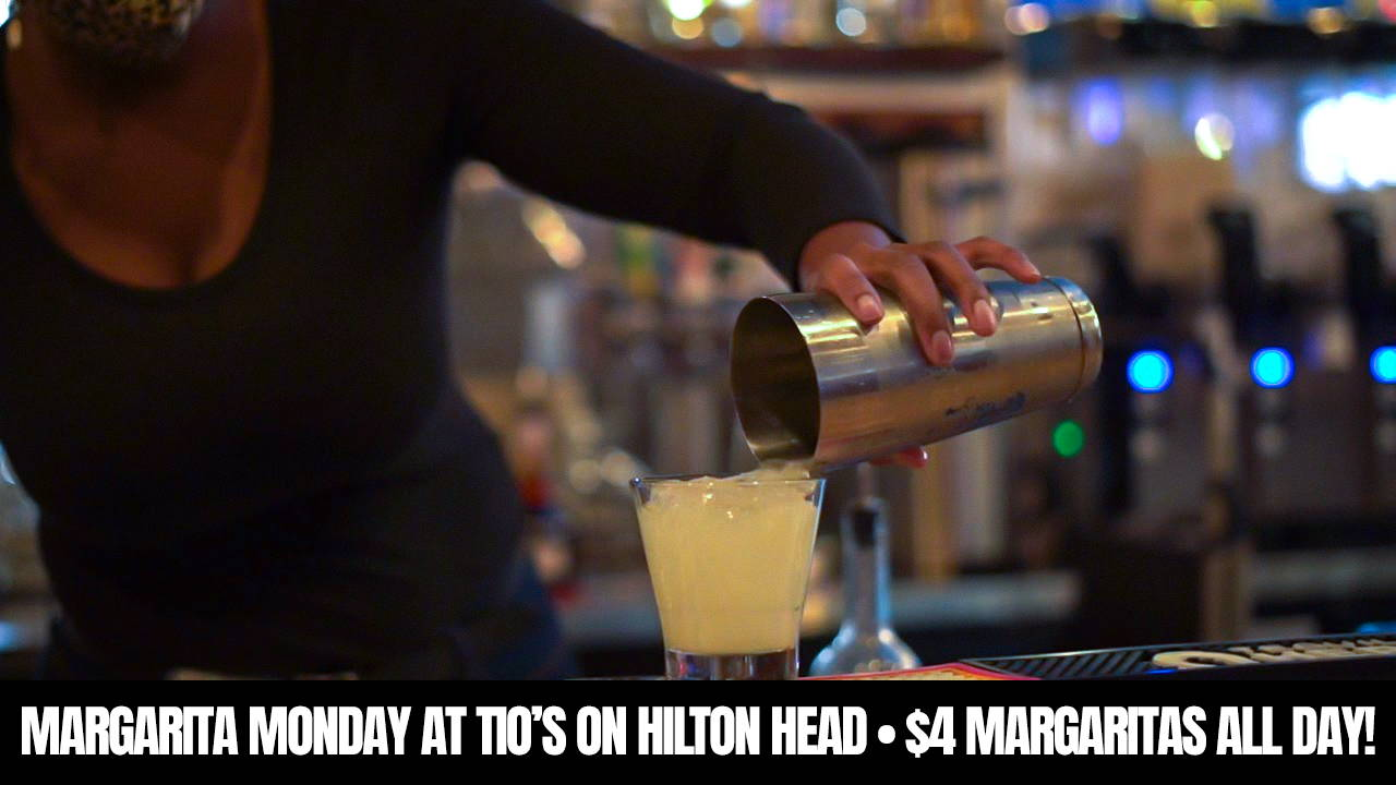 The Best Margaritas can always be found at Tio's on Hilton Head Island in Shelter Cove Town Centre.