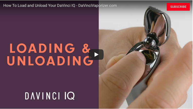 Davinci IQ Portable Dry Herb Vaporizer Loading and unloading