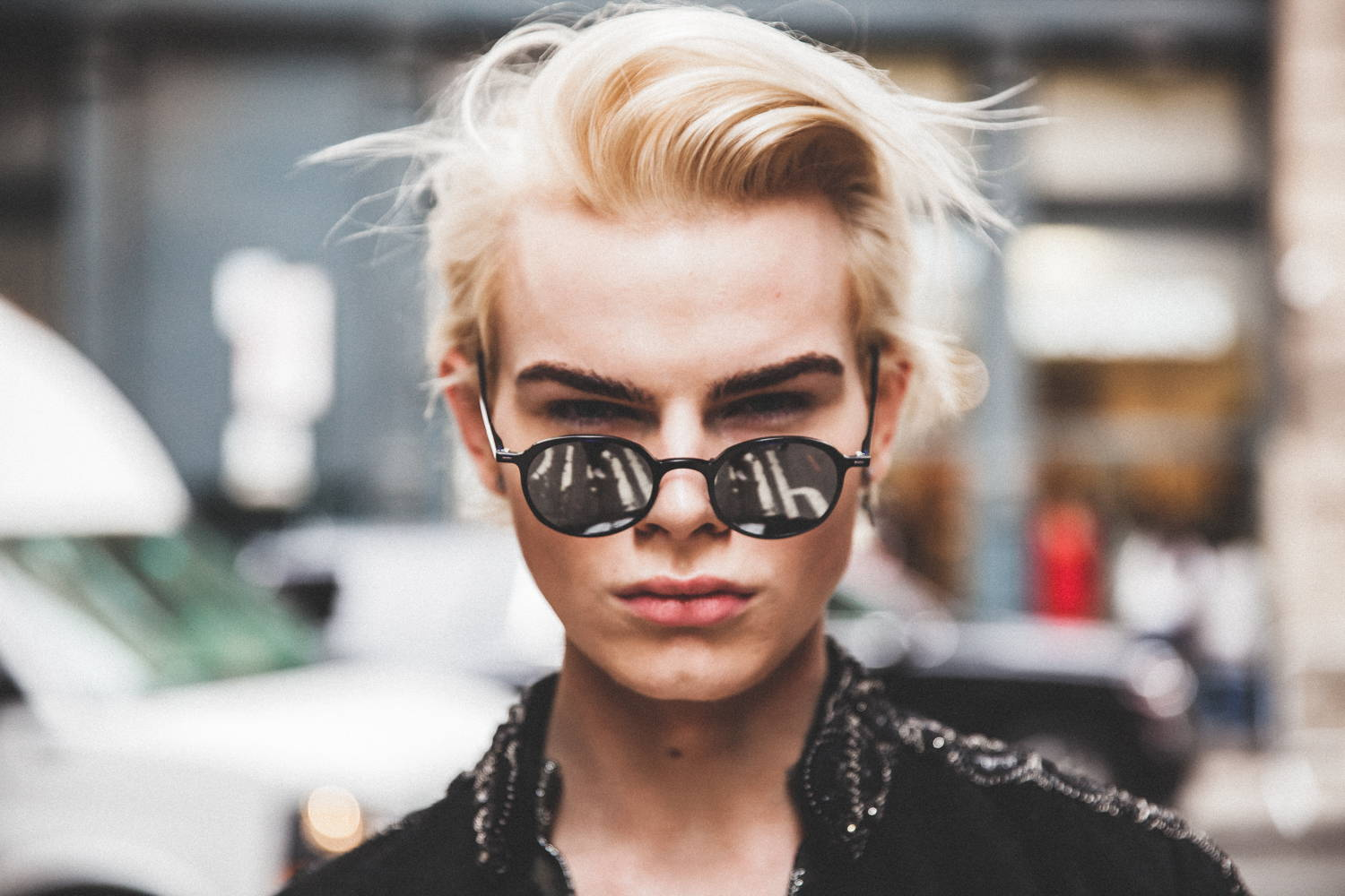 Flying Solo Independent Designers New York City Boutique Street Style Photo Shoot Editorial Black sunglasses