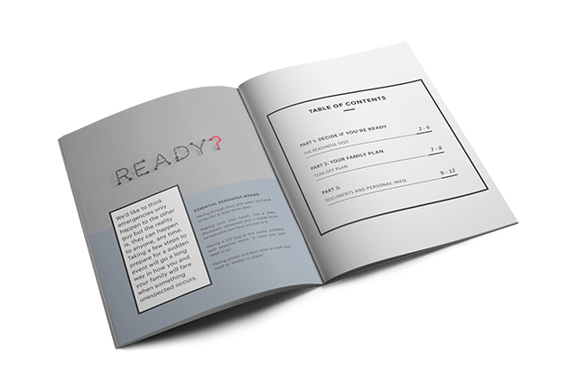 Readiness Playbook opened to the first page