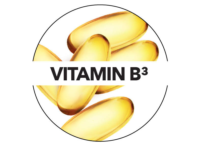 Vitamin B3 improves the skin's overall texture and feel.