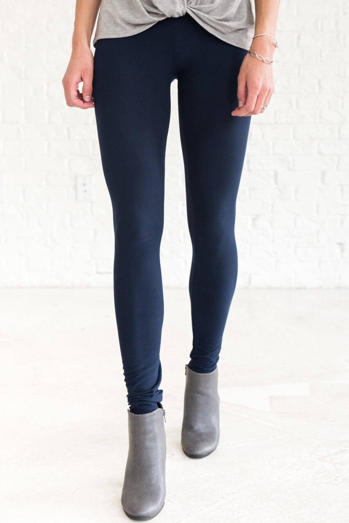 Navy Blue Best Winter Boutique Leggings