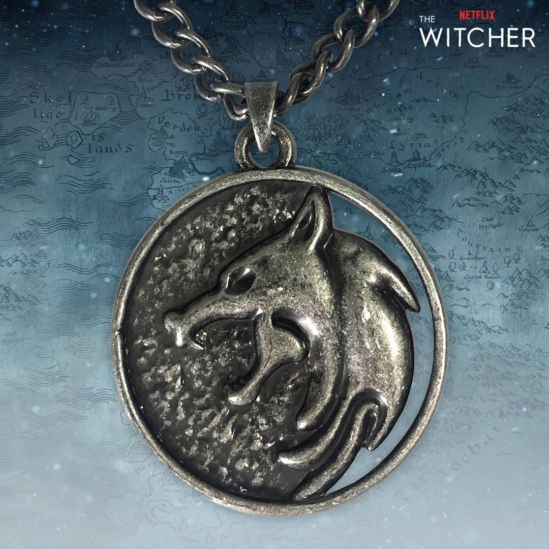 Netflix: The Witcher Geralt Medallion Necklace