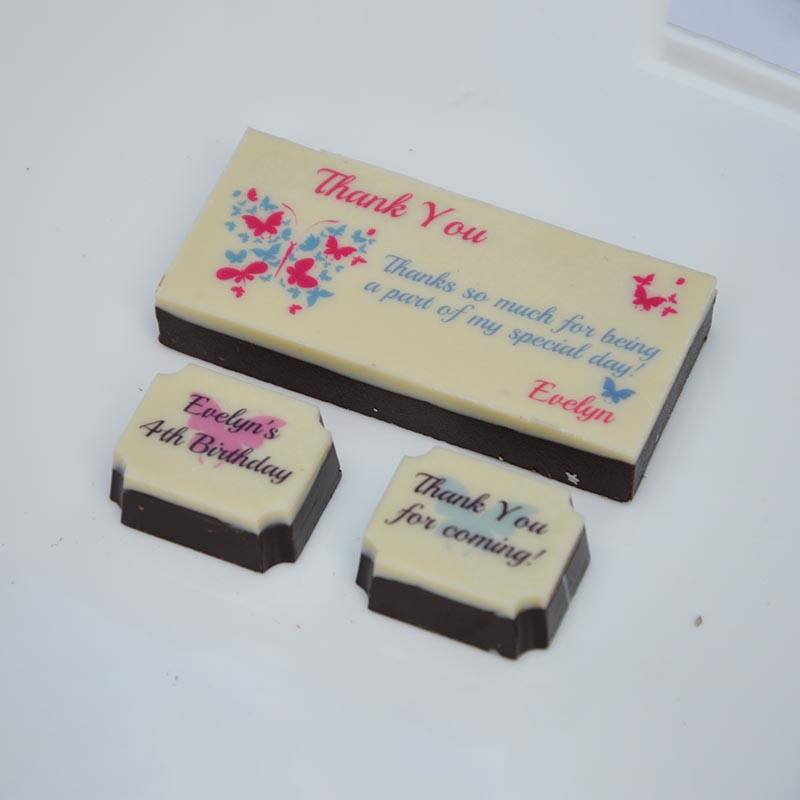 Butterfly theme chocolates for birthday