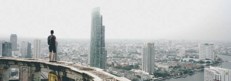 Amazing city view of Thailand