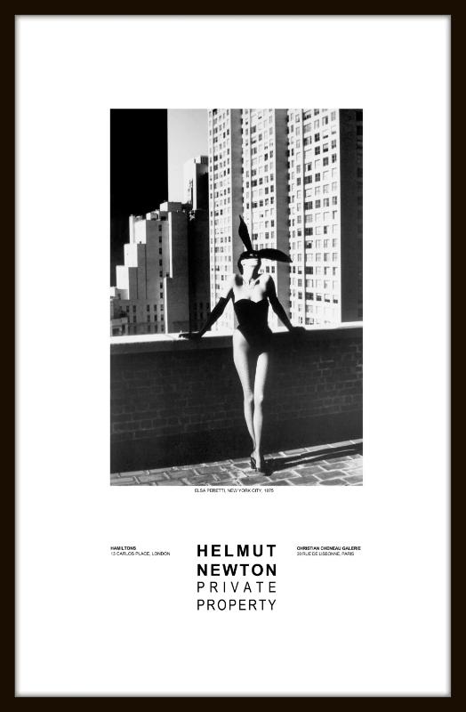 elsa peretti poster by helmut newton