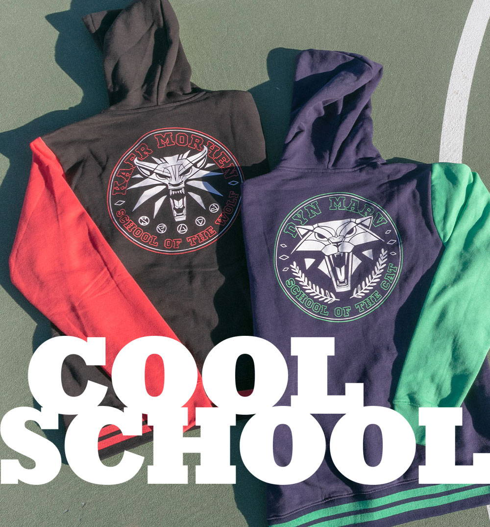 Cool School: Two new varsity style hoodies from The Witcher 3