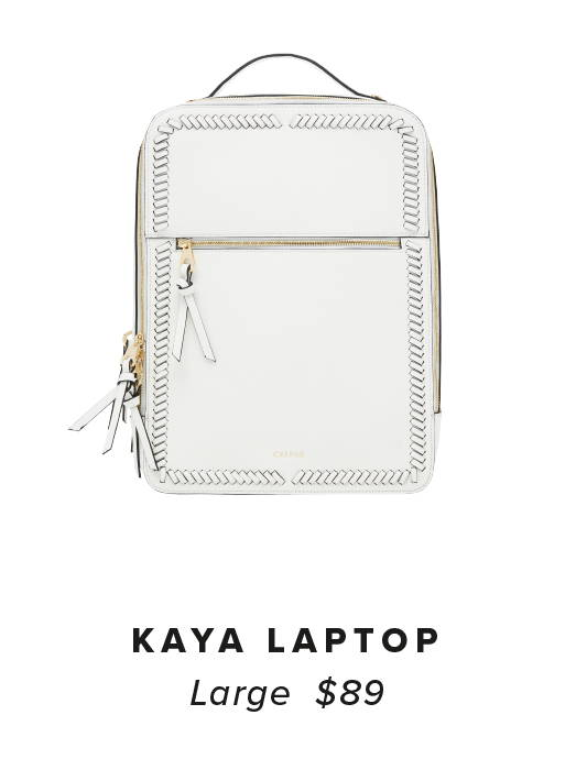 KAYA Laptop Backpack - White