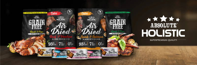 absolute holistic dehydrated air dried dog food & treats and cat food & treats collection