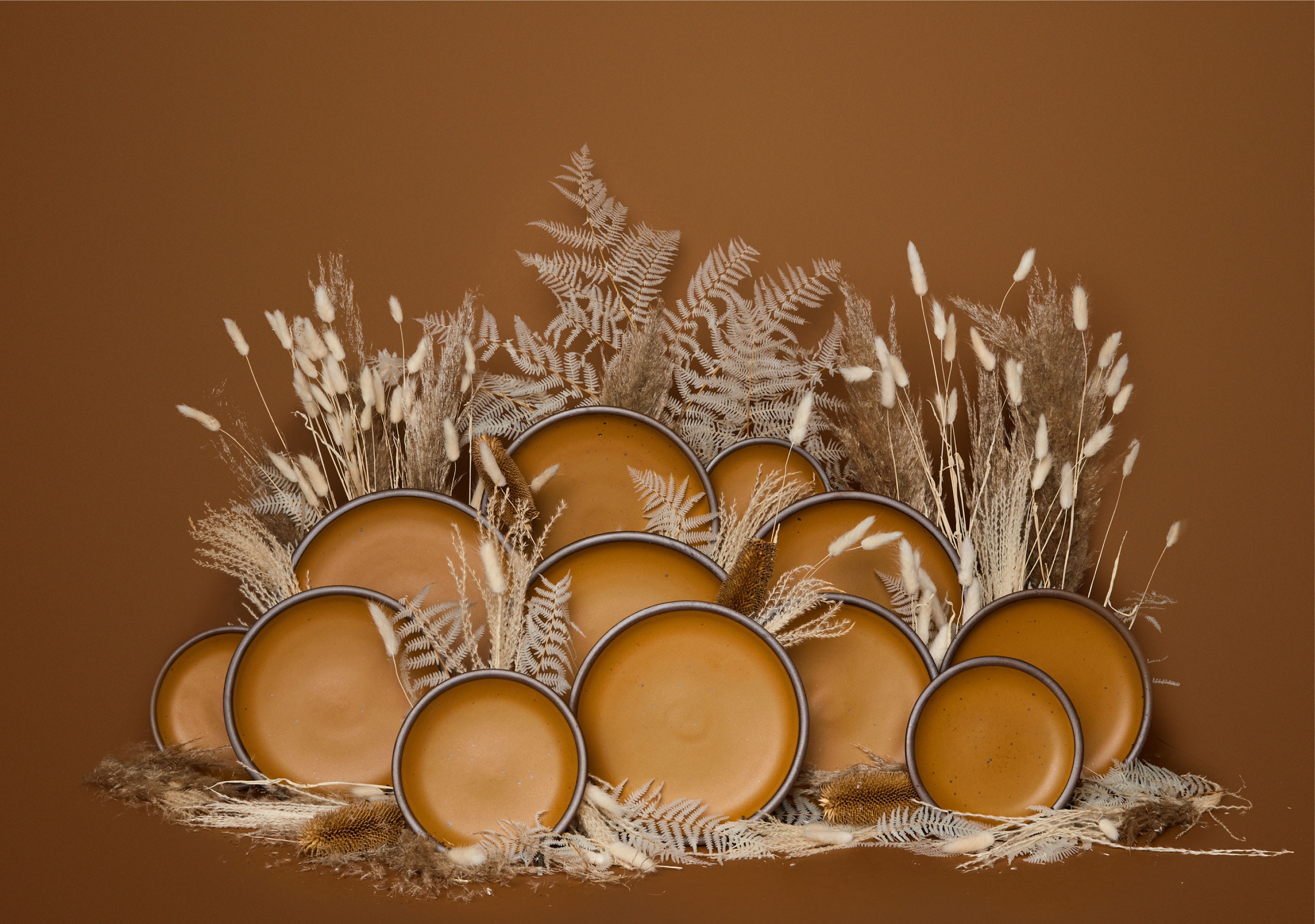Harvest Moon plates from East Fork
