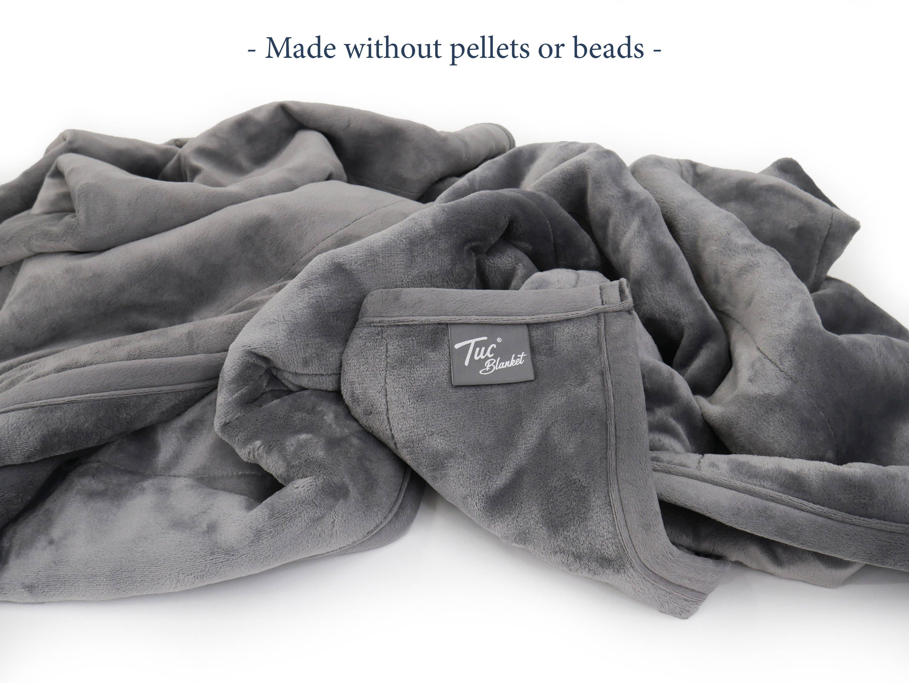 Flexible, washable, Tuc Weighted Blanket made without beads