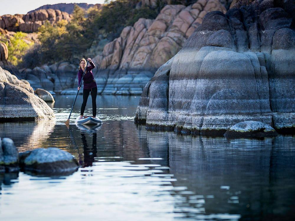 paddling the Pau Hana Cadence Air