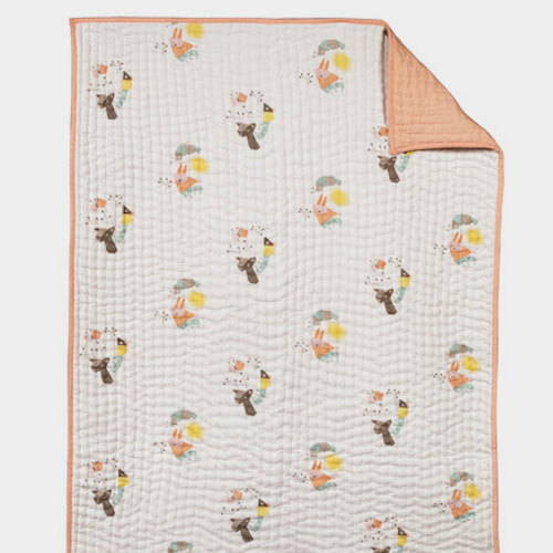 Nursery Works Menagerie Quilted Blanket
