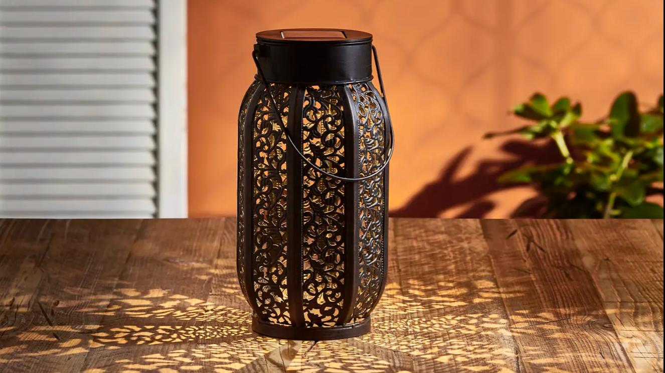 Temara Moroccan lantern styled on alfresco table top