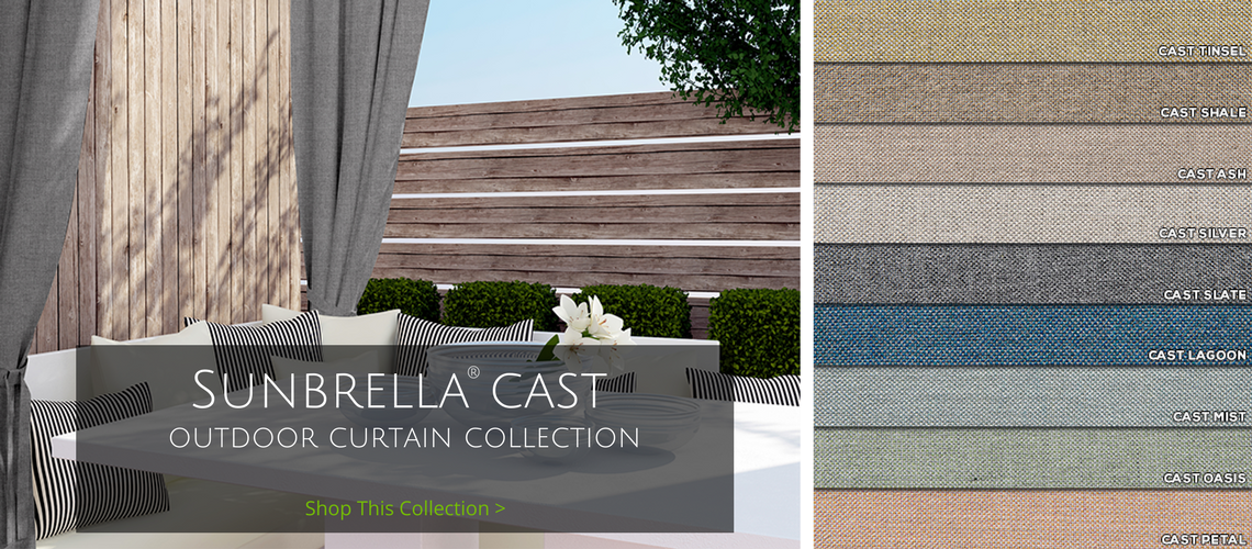 sunbrella cast outdoor curtain collection