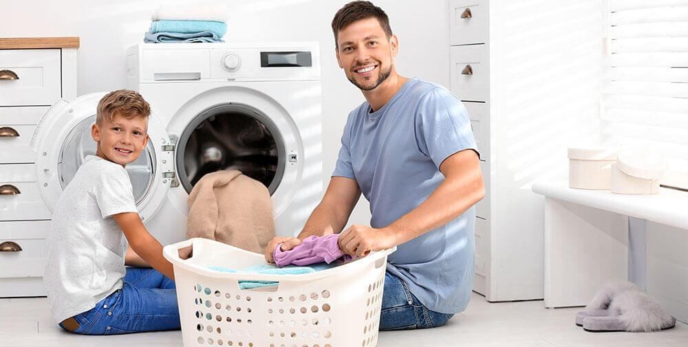Kopfkissen waschen Familie