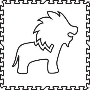SoftTiles Lion Foam Play Mat Shape