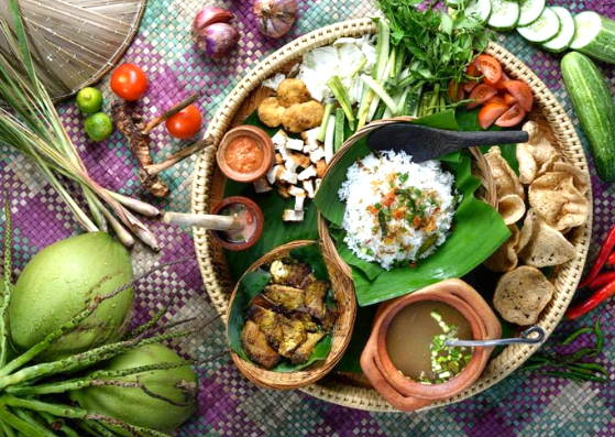 A platter of authentic Malay cuisine