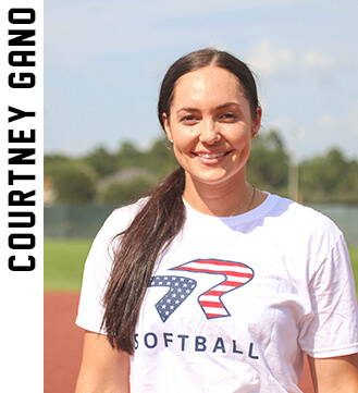 Professional softball player Courtney Gano.