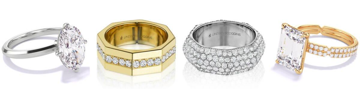 Lindsey Scoggins Studio engagement rings and wedding bands