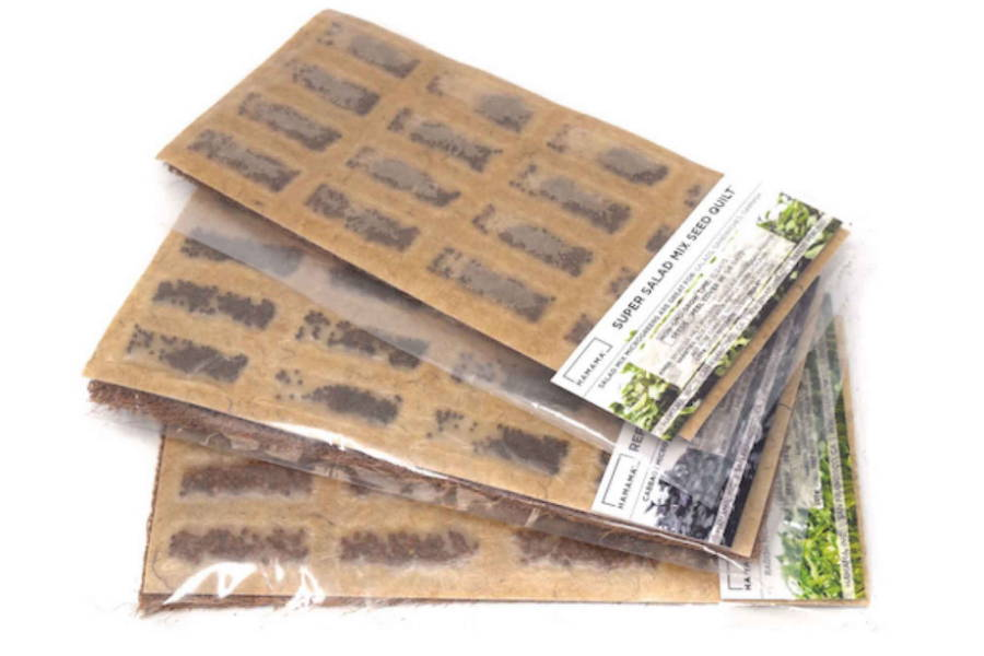 Seed Quilts for growing different microgreen seeds.