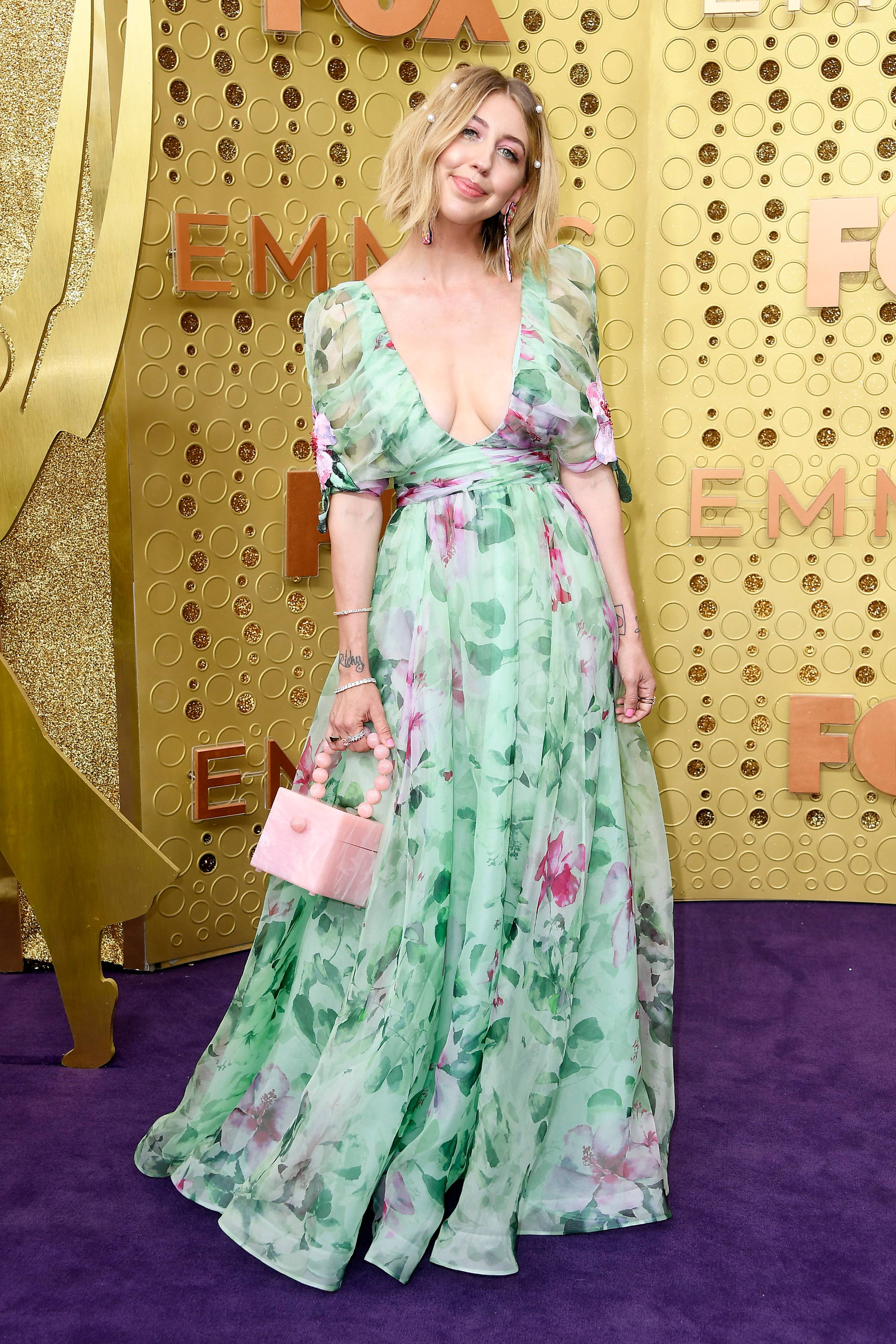 """Heidi Gardner (""""Saturday Night Live"""") looking gorgeous in Badgley Mischka Spring 2020 at the Emmy Awards in Los Angeles"""