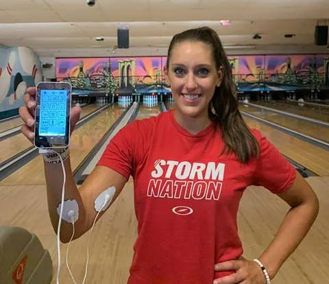 professional bowling, TENS Unit for pain relief, elbow pain relief, EMS muscle soreness