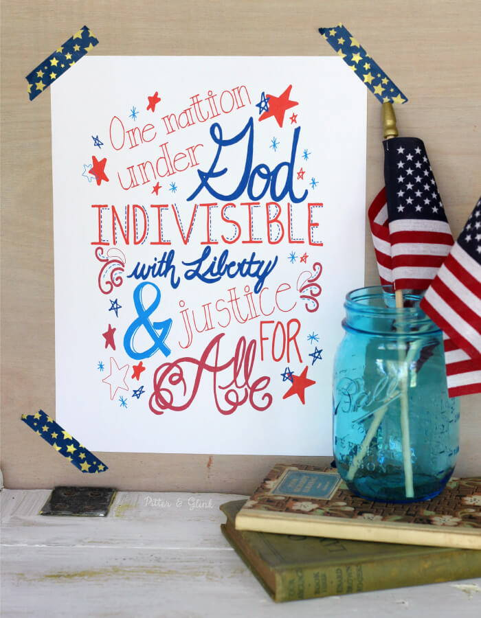 pledge of allegiance 4th of july downloadable