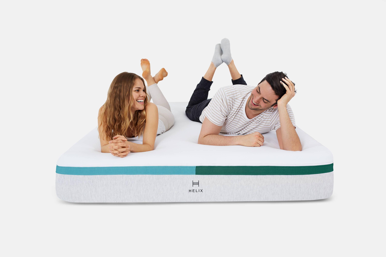 A couple on the Helix Dual Balanced Mattress