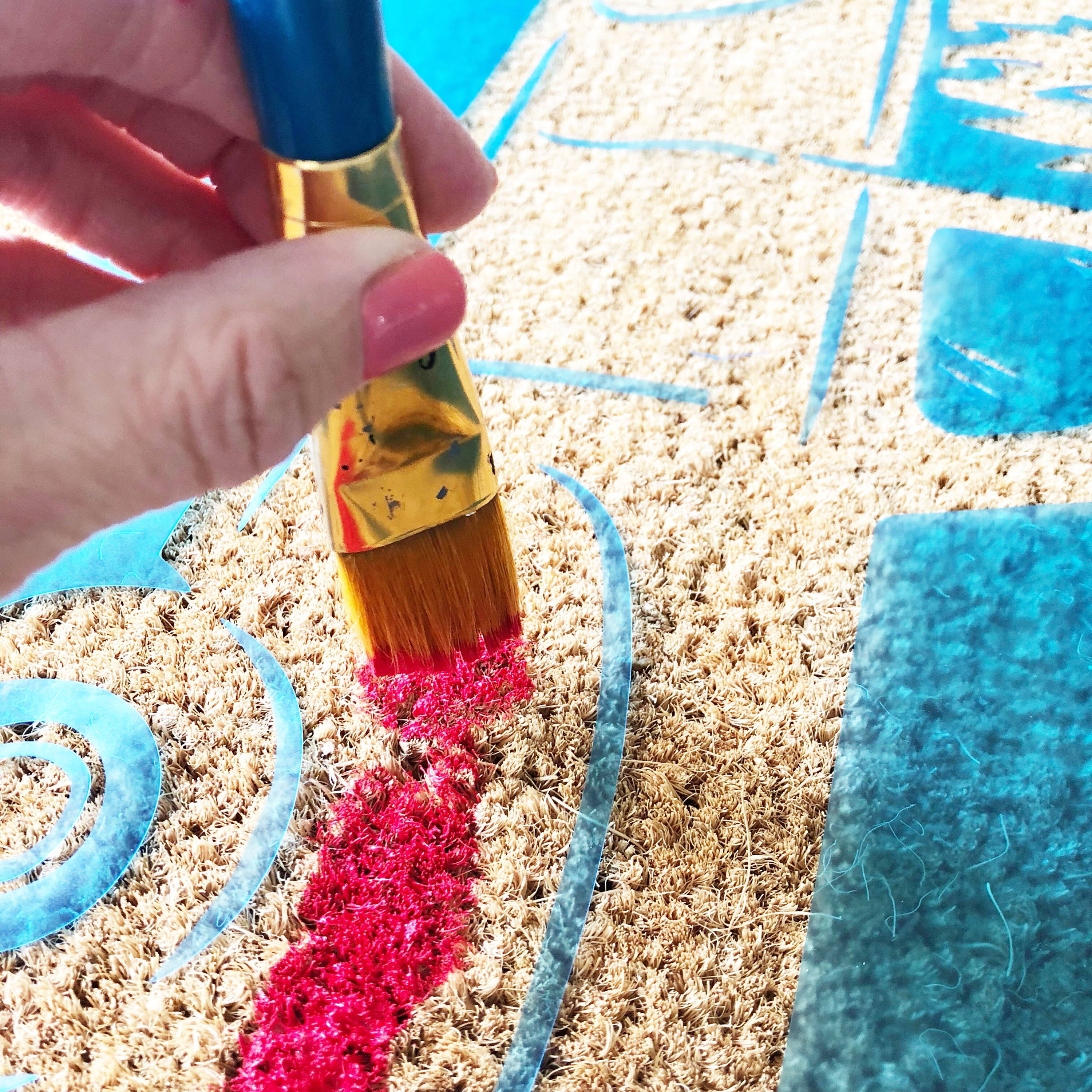 Holiday DIY: How to Make a Doormat Using Stencil Vinyl and Paint