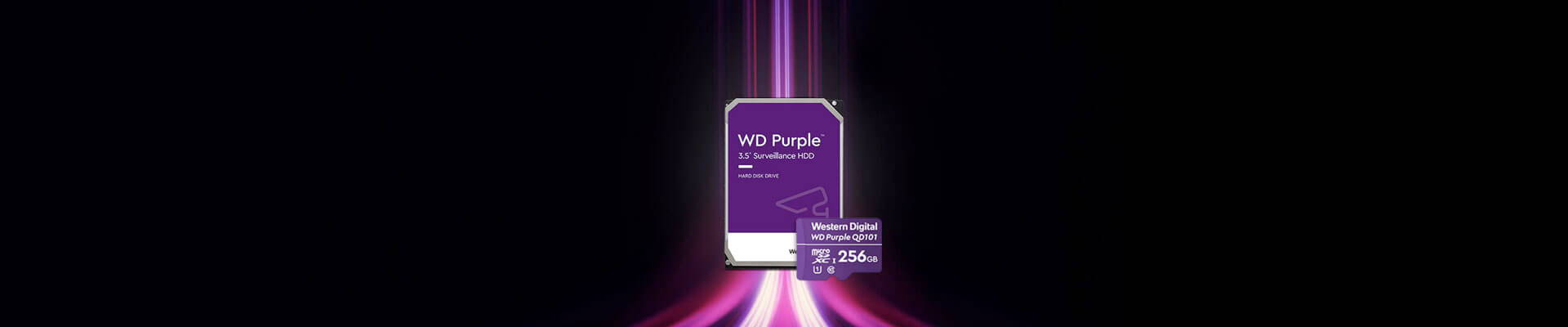 WD Security Grade Hard Drives and MicroSD cards Banner