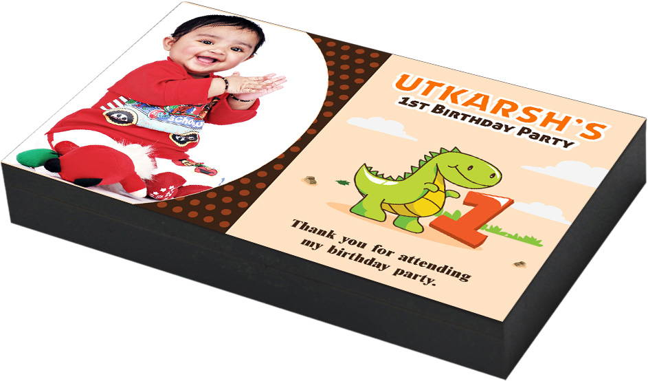 First Birthday Return Gift With Dinosaur Theme Design