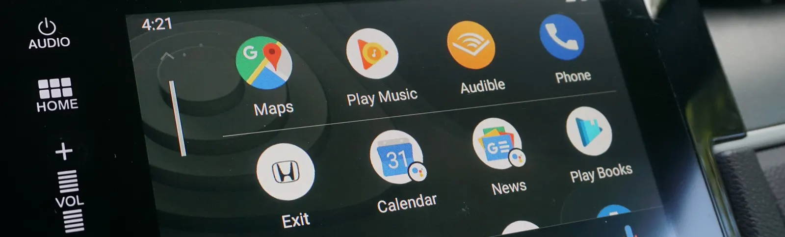 Android Auto Menu