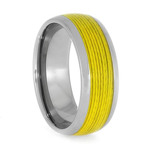 Yellow Fishing Line Rings