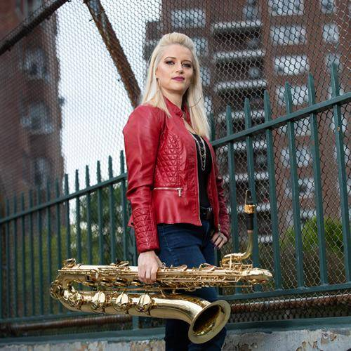Lauren Sevian plays bari saxophone and uses Key Leaves care products to fix sticky G sharp pads.