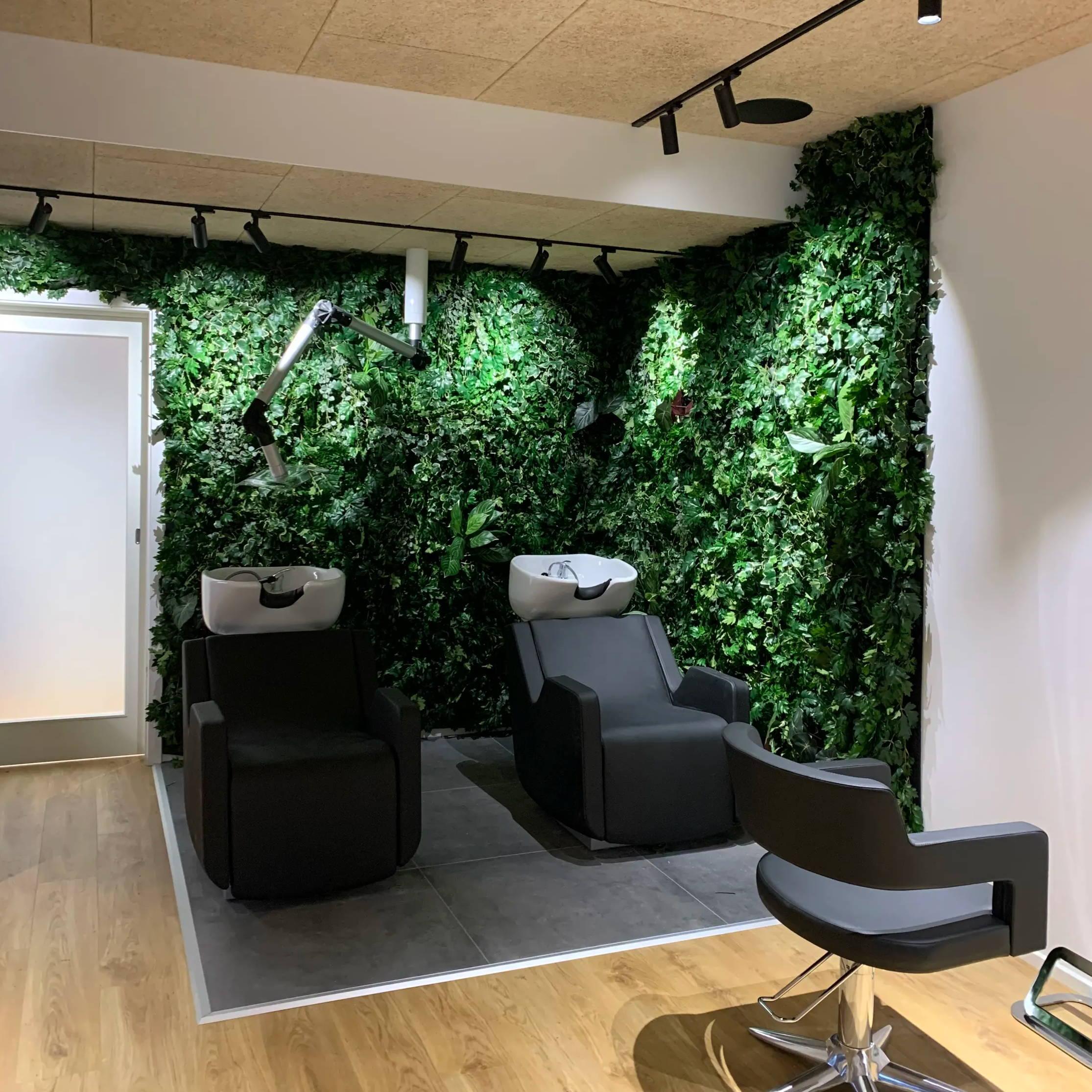 plantevæg hos frisør