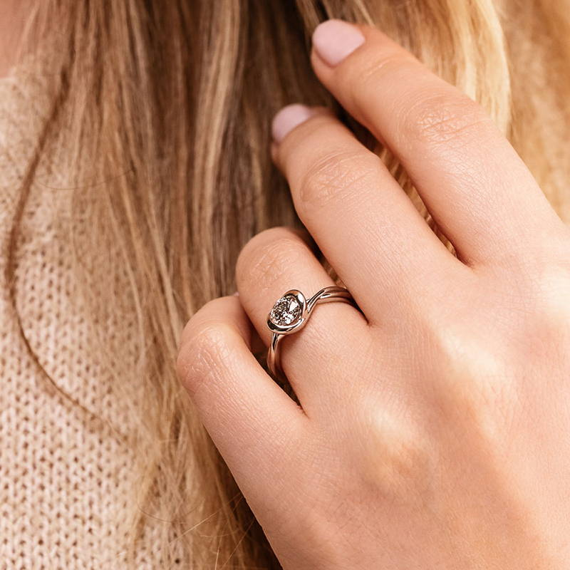 Mod Modern Solitaire Engagement Ring