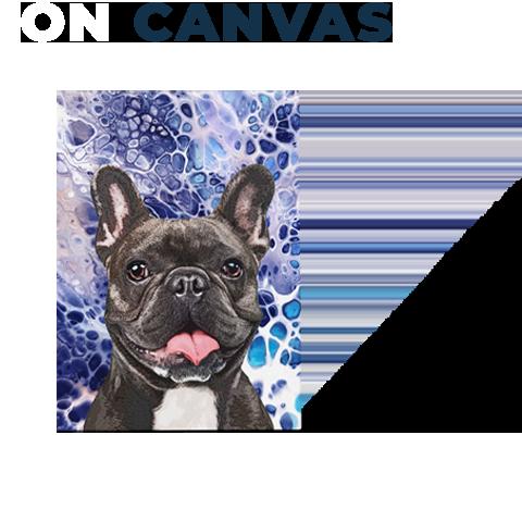french bulldog on canvas