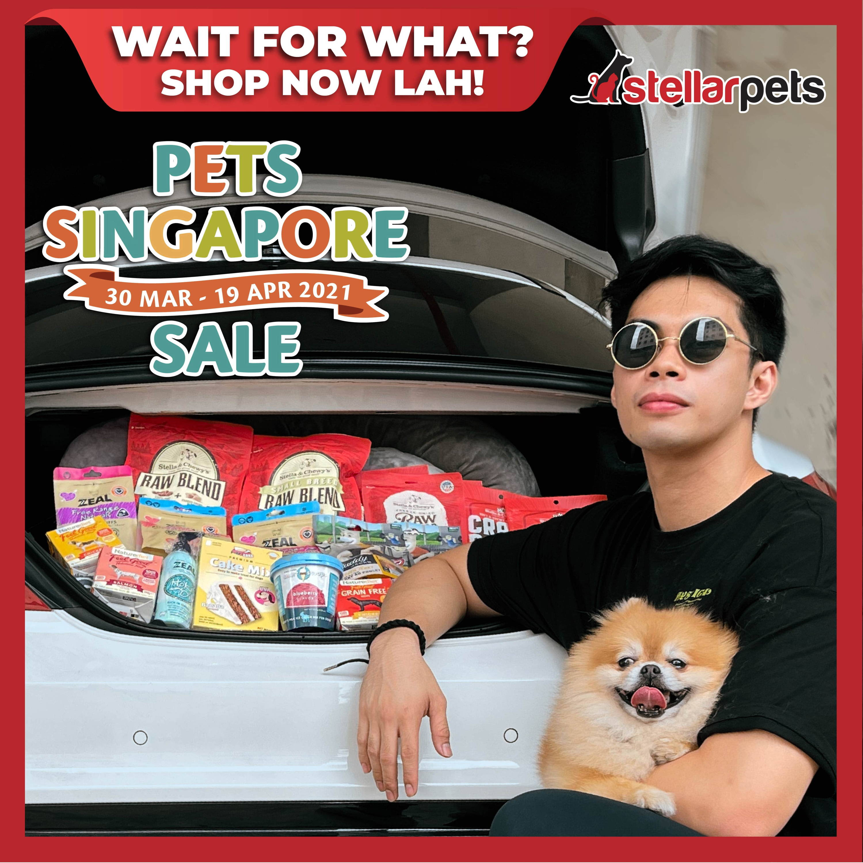 pet singapore sale by silversky and stellarpets from 30 mar to 19 apr at our online pet shop singapore pawpy kisses.-3