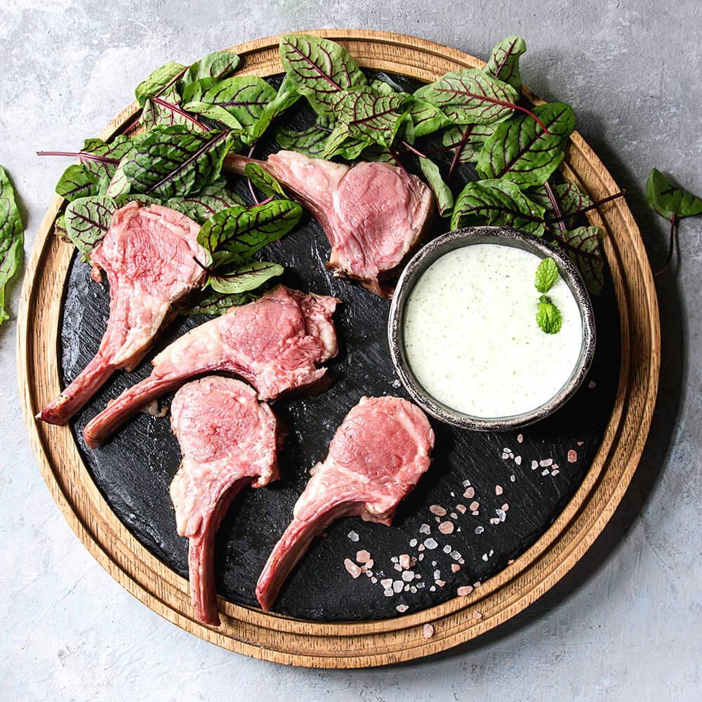 High Quality Organics Express Pink Himalayan Salt with Lamb and marinade