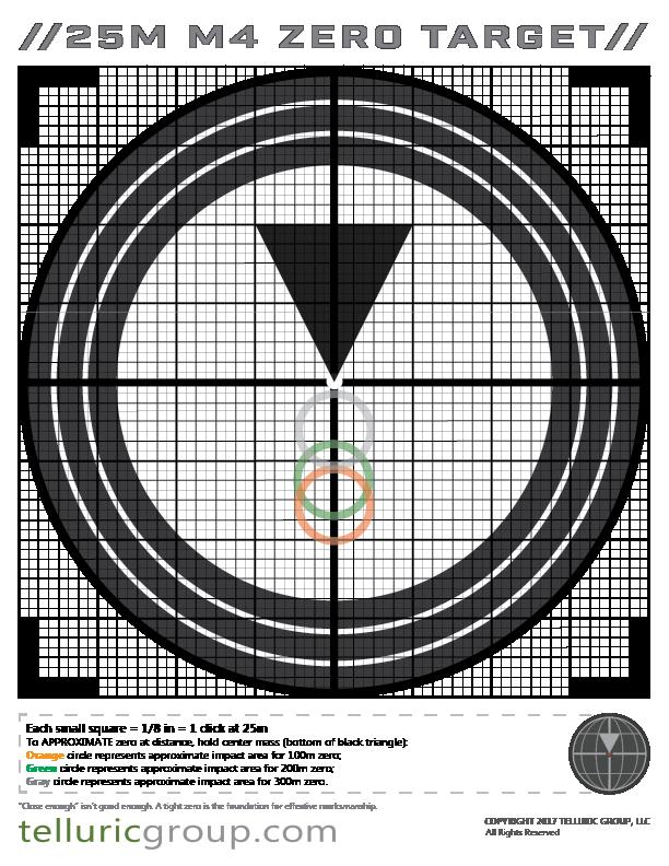 25m M4 Zero Target