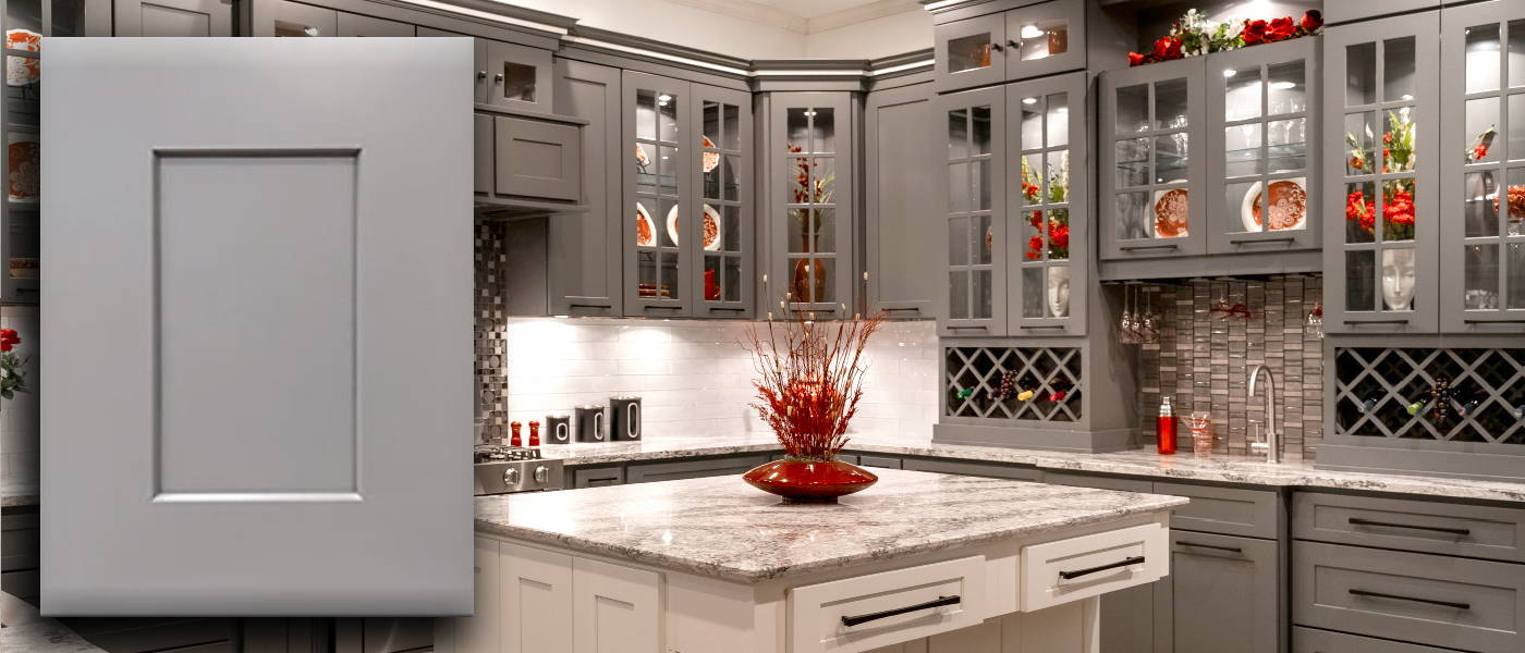 Summit Platinum Shaker Kitchen Cabinets