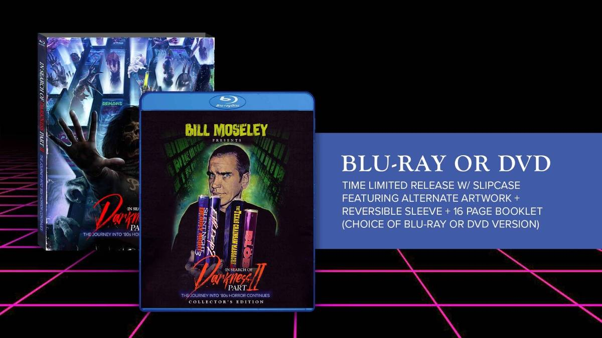 In Search of Darkness Part II, Bill Moseley Collector's Edition Blu-ray/dvd package