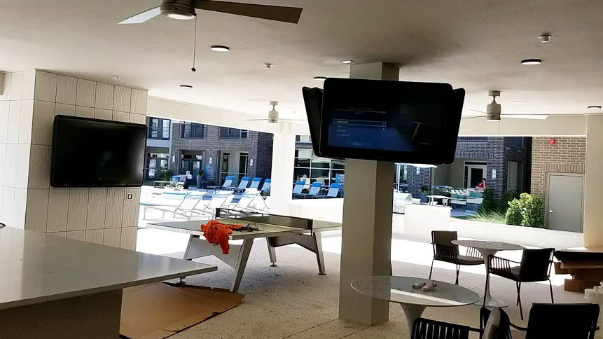 The Display Shield® for Outdoor Common Area TV Protection by Pool