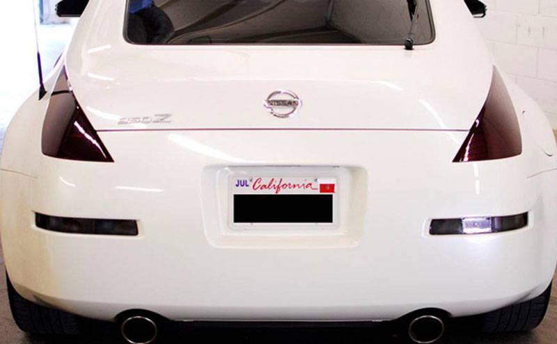 Nissan 370Z with Charcoal Lamin-x tail light tint film covers
