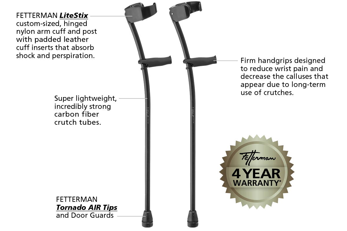 fetterman custom carbon fiber crutches