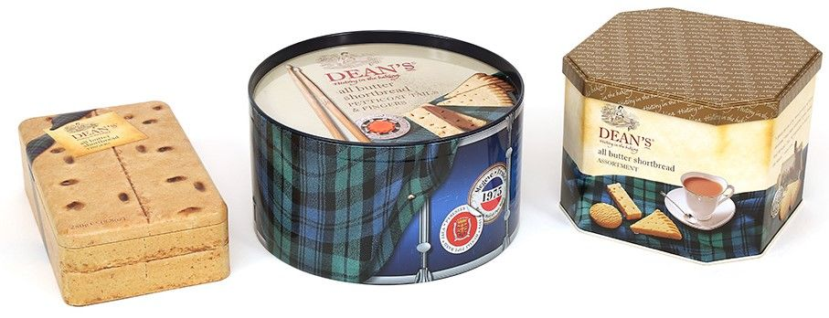 Image of tins created for Dean's of Huntley
