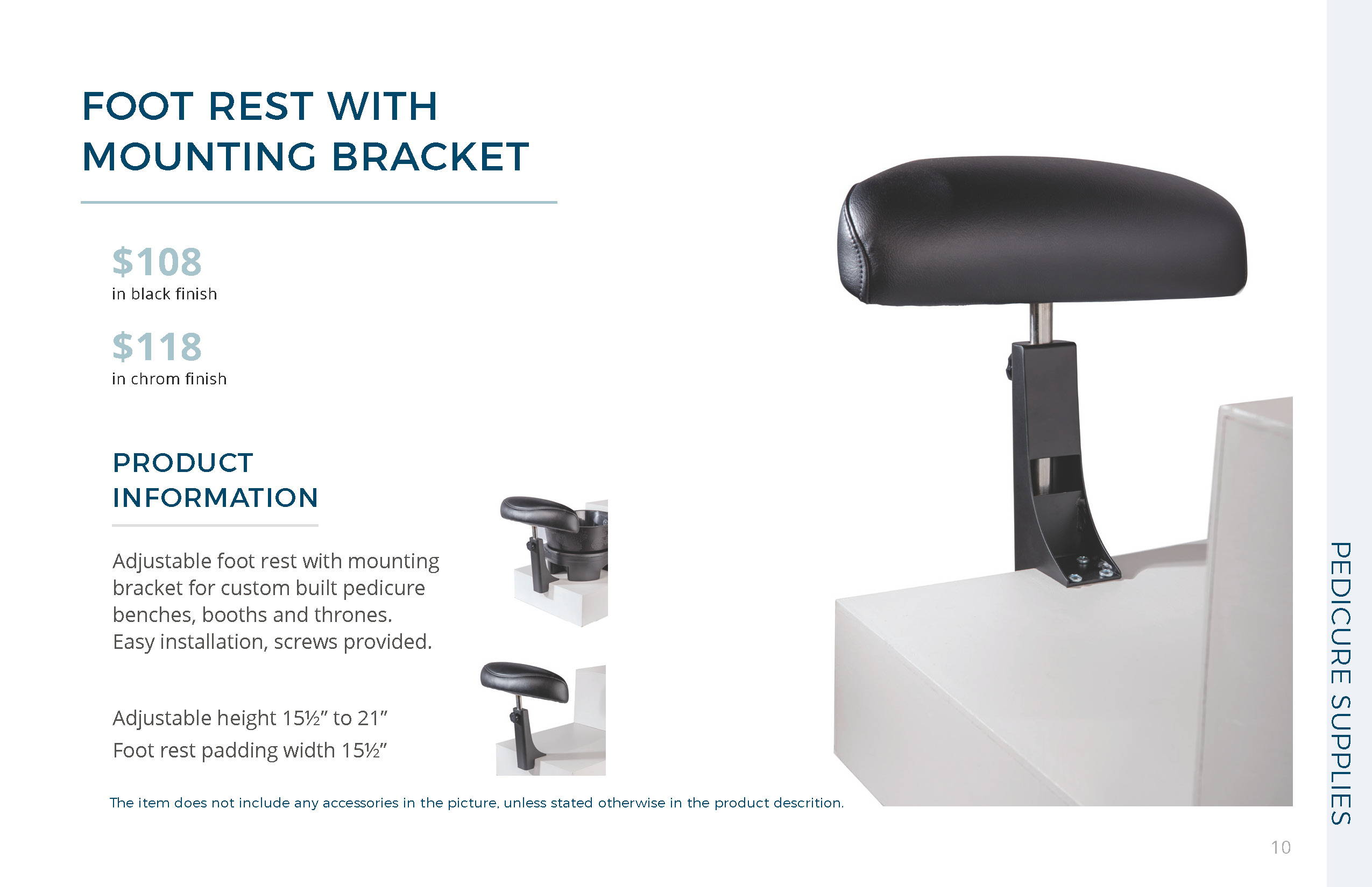 Mounting Bracket Foot Rest by Belava