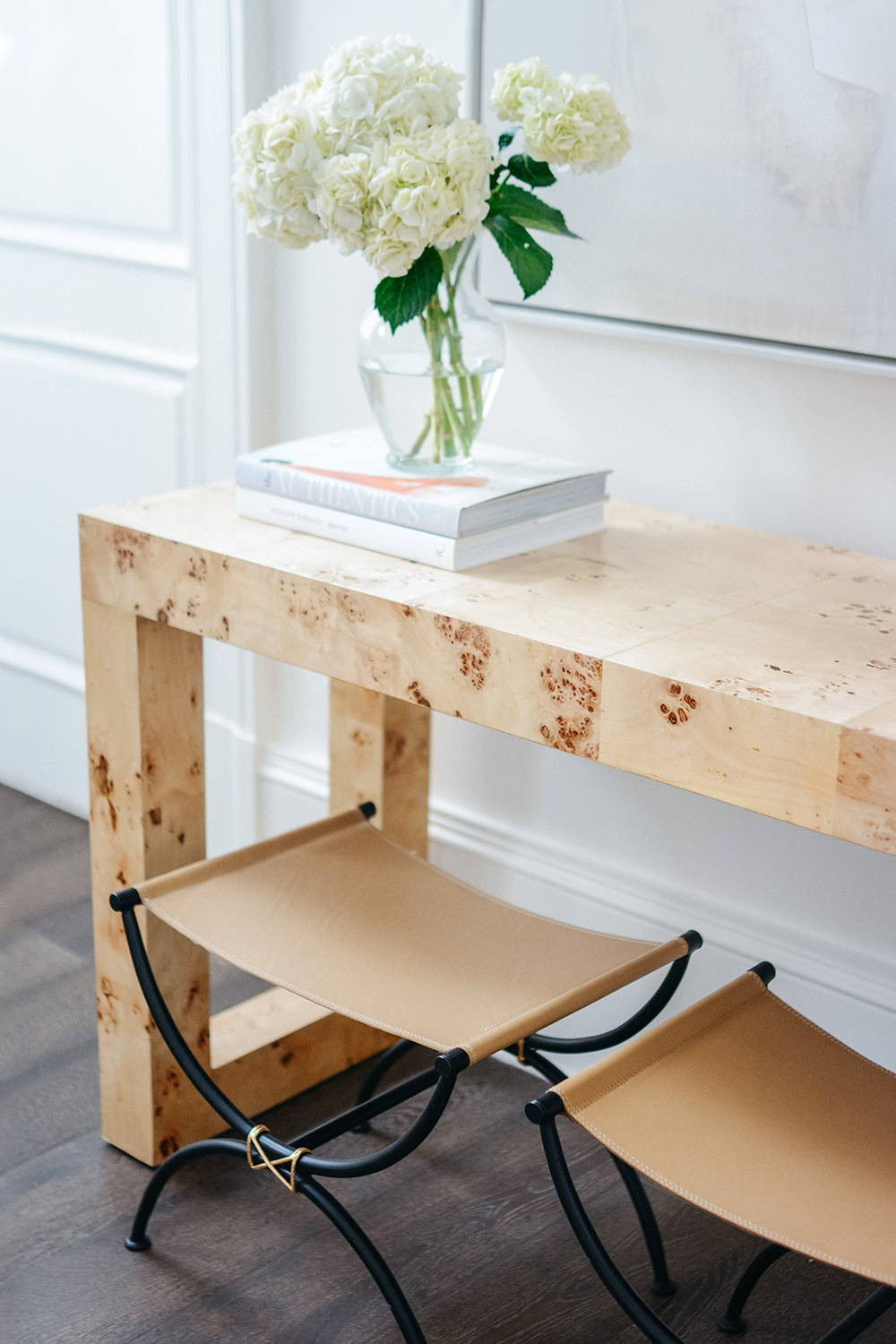 Ave Home | Chloé Burl Console and Stool